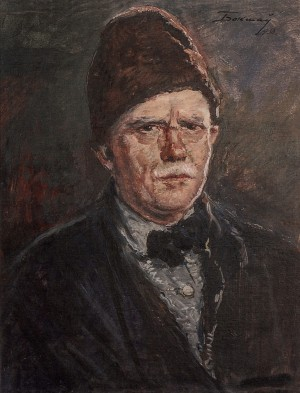 Self-Portrait, 1958, oil on cardboard, 50x38
