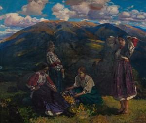 Y. Bokshai Girls On Polonyna', 1933, oil on canvas, 110х130,5