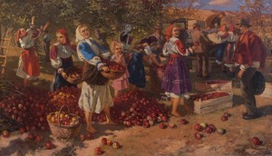 Y. Bokshai Apple Harvesting', 1950