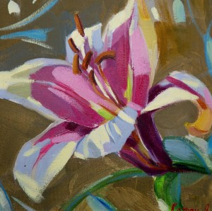 Y. Katran Lily', 2017, oil on canvas, 25x25