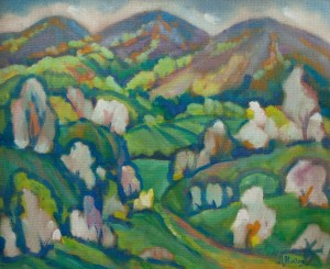 L. Mykyta 'Spring Motif', tempera on canvas