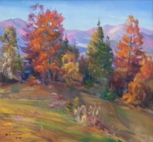 V. Senko Verkhovyna Autumn', 2017, oil on canvas, 70x75