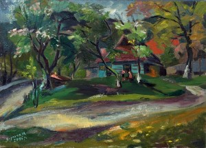 In The Garden', 2016, oil on canvas, 50x70