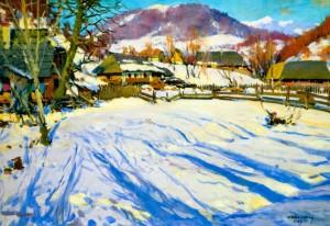 Зима в Ставному, 1957 р.