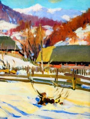 Зима в Ставному, 1957 р. Фрагмент