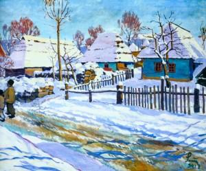Зимовий пейзаж, 1941 р.