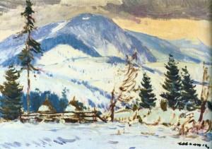 Зимовий пейзаж, 1968 р.