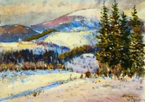 Зимовий пейзаж, 1980 р.