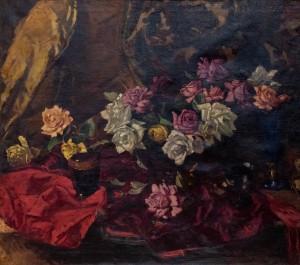 Y. Bokshai Still Life With Roses', 1940s