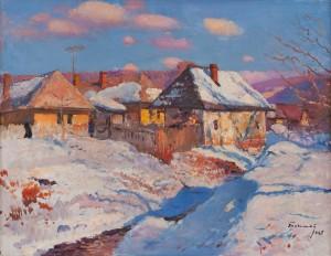 Бокшай Й. 'Зима в Кам'яниці', 1967, п.о., 65х82,5
