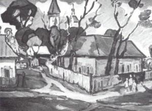 Сільський мотив, 1969, п.о., 50х70
