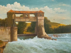 V. Klymkovych Landscape With A Water Mill', oil on canvas, 85x135