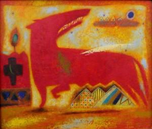 Червона вовчиця, 2002, т.двп, левкас, жовткова емульсія