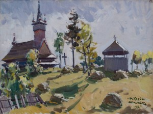 Z. Sholtes 'Wooden Church In Dibrova Village', 1971.