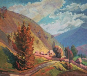 'At Lysa Hora', 2000, oil on canvas, 60x70