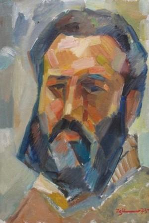 'Автопортрет', 1973, 46,5х33,9