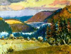 Карпатський пейзаж, 1989 р.