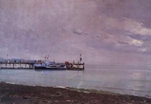 Біля берегів Хости, 1956, п.о. 55х80
