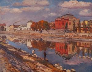Y. Bokshai Uzhhorod', 1947, oil on canvas, 100x127