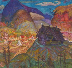 Eagles Flew Away From The Nest, 1988, oil on canvas, 94x100