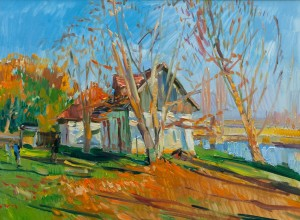 F. Erfan 'Farmstead In Autumn'