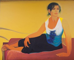 Фірцак Б. 'Жіночий портрет', 2014, п.т.вугіль, 118х144