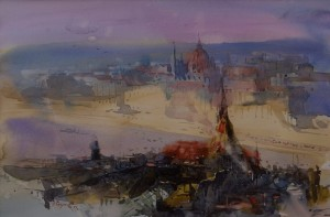 V. Kohutych 'Evening Over The Parliament'.