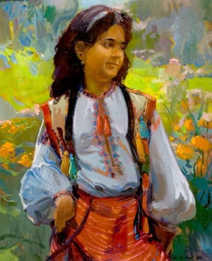 Young Hutsulka, 2006, oil on canvas, 60x80
