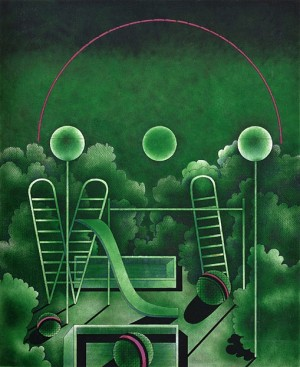 N. Ponomarenko 'Playground', 1972, mixed technique on paper, 50x41.jpg