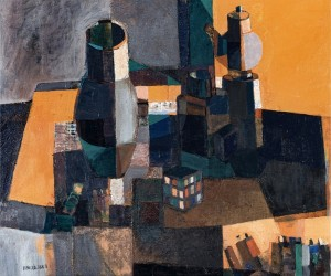 My World, 1986, oil on canvas, 74x89