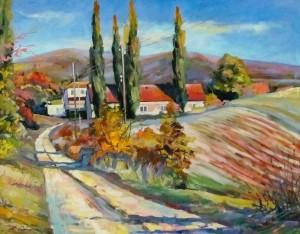 Сакалош А. 'Дорога на виноградники', 2013, п.о., 58,5х73,5