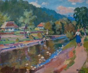 Шолес З.'Закарпатський пейзаж', 1946
