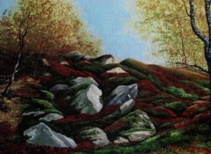 'Осіння гірка', 2010, п.о., 60х40