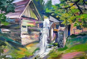 Water Mill', 2018, oil on canvas, 50x70