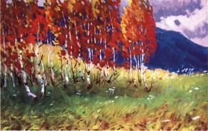 Осінь. Берези, 1977