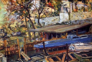 Boats, 1960, oil on cardboard, 35х51