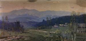 Біля підніжжя Карпат, 1959, п.о. 60х123
