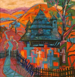 O. Kondratiuk Road To The Temple', 2012, oil on canvas, 100x100