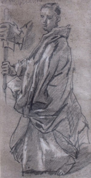 Philip The Apostle (sketch), the 1930s, oil on paper, whiting, 31x17