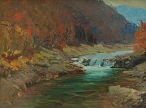 I. Bondarenko 'Synevyr Village, The Rika River'.