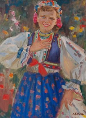 Борецький А. 'Портрет Клари Балог', 1950-ті