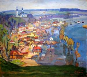 Flood, 1979, oil on canvas, 69x78