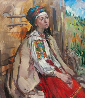 F. Erfan 'Girl In National Dress. Deamy Girl', 2015