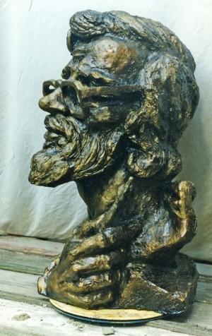 Гав'юк Ю. 'Портрет реставратора (Д. Цимер)', 2000, тонований гіпс