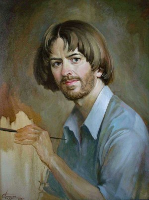 S. Hlushchuk 'Self-portrait', 2001 oil on canvas, 65x50