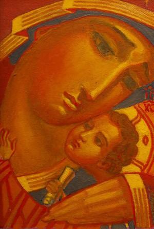 M. Hresko 'Grieving Mother Of God', 2015