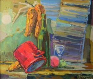 Мадяр Л.'Натюрморт з гарбузом', 2008, п.о., 50х60