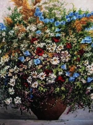 'Польові квіти', 2011, п.о., 50х40