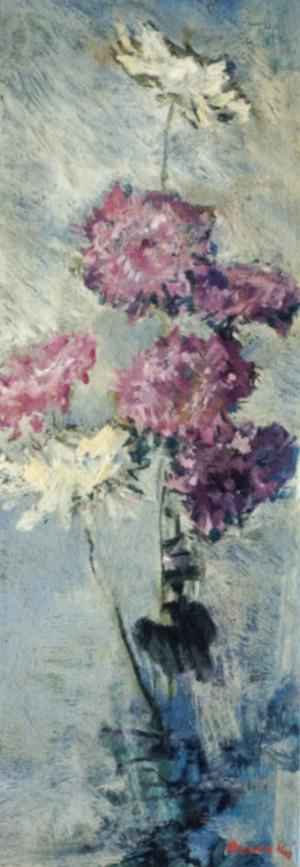 Хризантеми, 1980, к.о., 80х28
