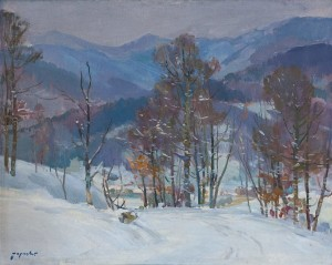 A. Boretskyi Winter', 1960, oil on canvas, 80x100